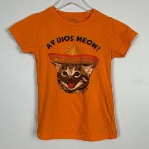 David & Goliath Dios Meow Shirt sz M Girls
